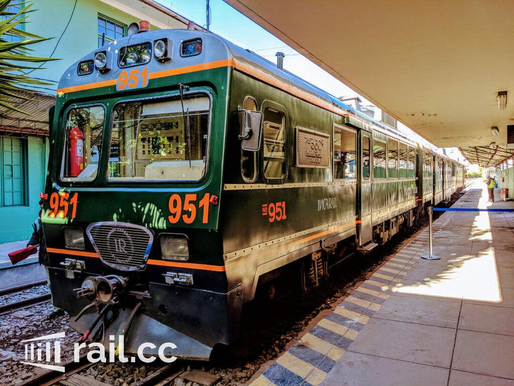 Taking the 360 Train from Cusco to Machu Picchu