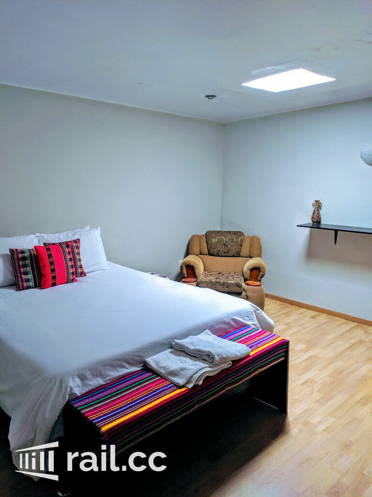 My room at the Xplora Hostel