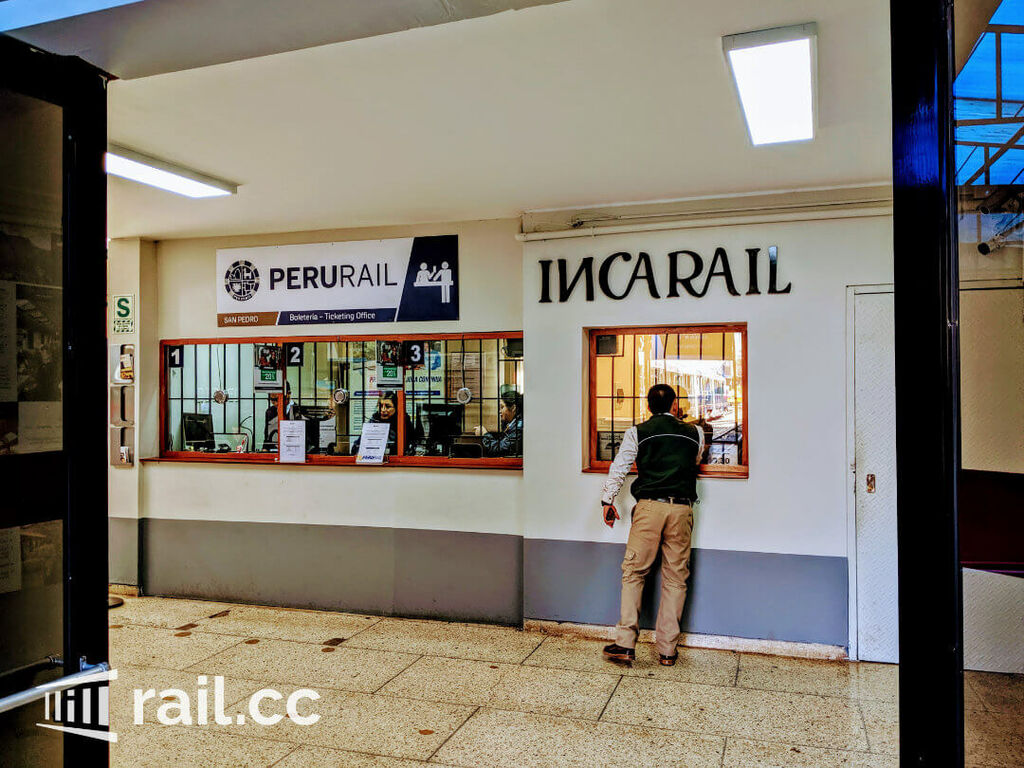 PeruRail and IncaRail ticket booths