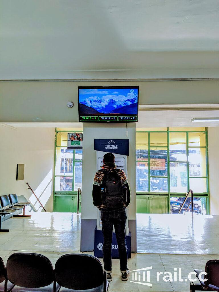 PeruRail waiting hall
