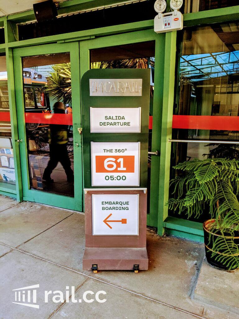 Entrance to IncaRail waiting hall