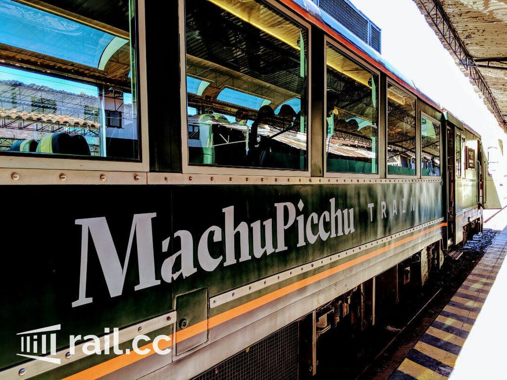 The 360 Machu Picchu train waiting at the station