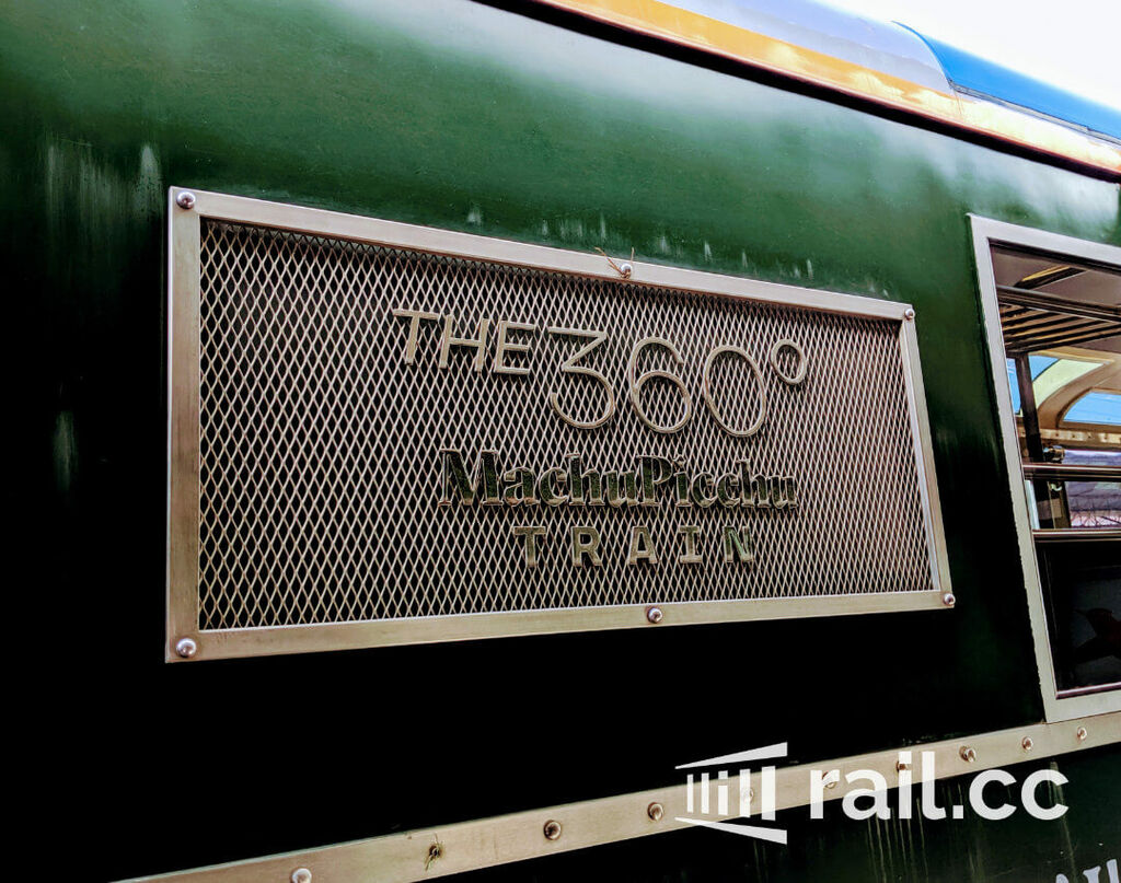 Detail of the train plate