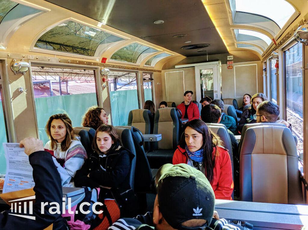 MachuPicchu Train interior