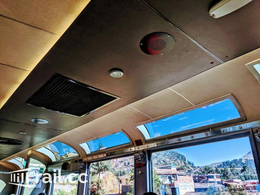 Panorama windows in the MachuPicchu train